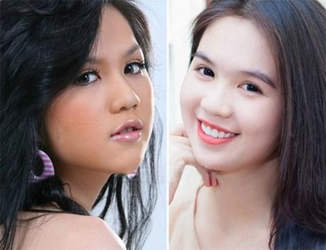 Hình ảnh trước và sau khi tắm trắng của Ngọc Trinh