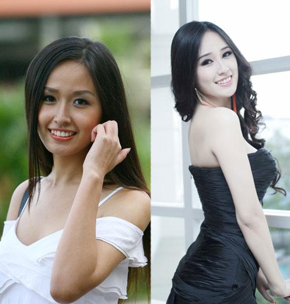 Hình ảnh Mai Phương Thúy trước và sau tắm trắng