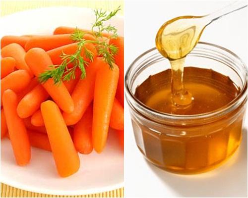Phương pháp tắm trắng hiệu quả từ cà rốt, mật ong