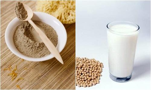 Đất sét và sữa đậu nành giúp bạn tắm trắng mà không sợ bắt nắng