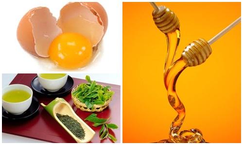 Cách dưỡng trắng da toàn thân với mật ong + trà xanh + trứng gà