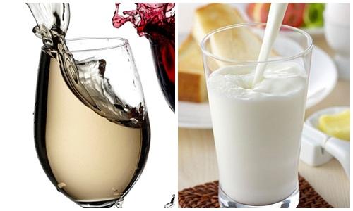 Rượu kết hợp với sữa tươi là cách dưỡng trắng da khá hiệu quả