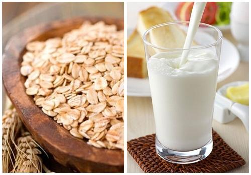 Sữa tươi kết hợp bột yến mạch