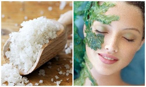 Bí quyết làm trắng da toàn thân dùng muối và tảo biển