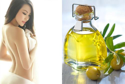 Dầu oliu được dùng để tắm trắng tại nhà