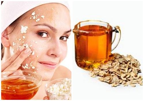 Tắm trắng an toàn bằng bột yến mạch và mật ong