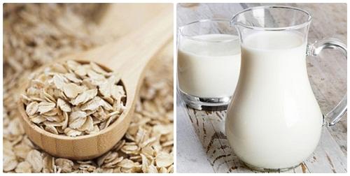 Sữa tươi và bột yến mạch - nguyên liệu tắm trắng an toàn