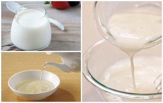 Bí quyết làm trắng da nhanh nhất với sữa chua và giấm trắng