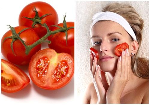 Cách làm trắng da mặt bằng cà chua nguyên chất