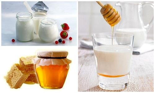 Mặt nạ sữa chua và mật ong loại bỏ da sẫm màu