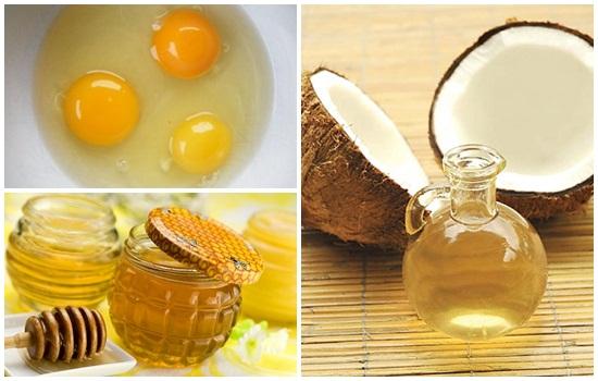 Cách làm đẹp da đơn giản từ lòng trắng trứng gà, mật ong và dầu dừa