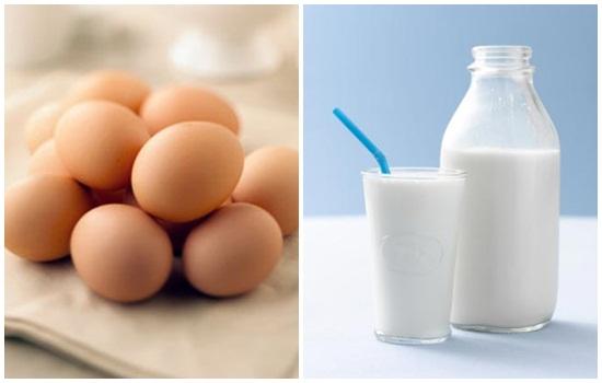 Cách làm trắng da mặt kết hợp trứng gà và sữa tươi