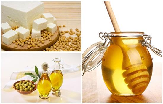 Công thức làm trắng da tại nhà với đậu phụ + mật ong +dầu oliu