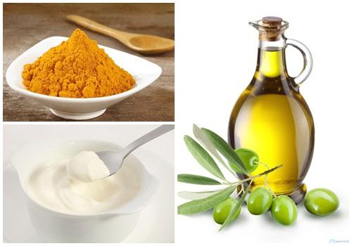 Tắm trắng hiệu quả hơn khi kết hợp bột nghệ, sữa chua và dầu oliu